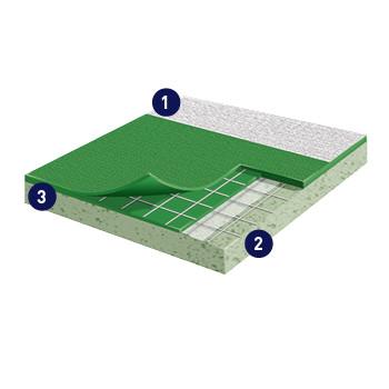 Badminton Court Rubber Flooring